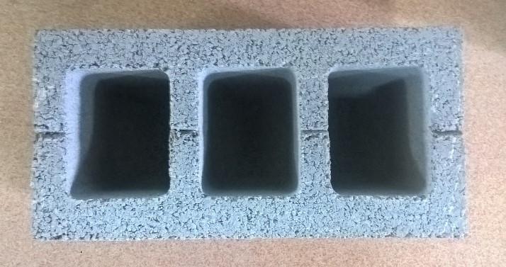 Пустотелый стеновой бетонный блок  СБ-ПР-Ц-Р-390x190x188-1500-M100-1-ДСТУ Б В.2.7.-7:2008
