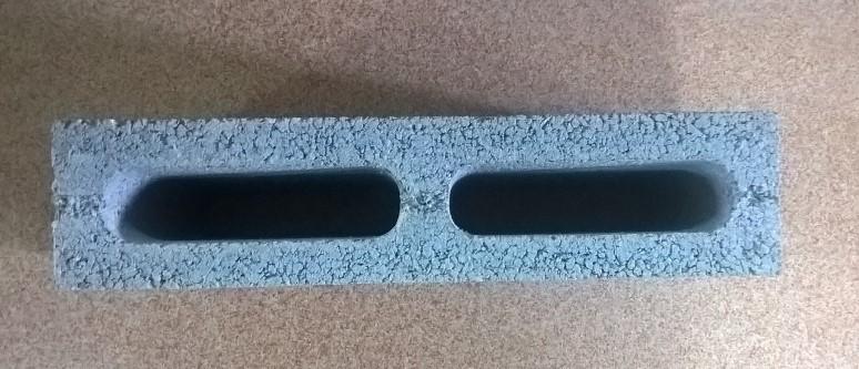 Пустотелый стеновой бетонный блок  СБ-ПР-Ц-Р-390x90x188-1500-M100-1-ДСТУ Б В.2.7.-7:2008