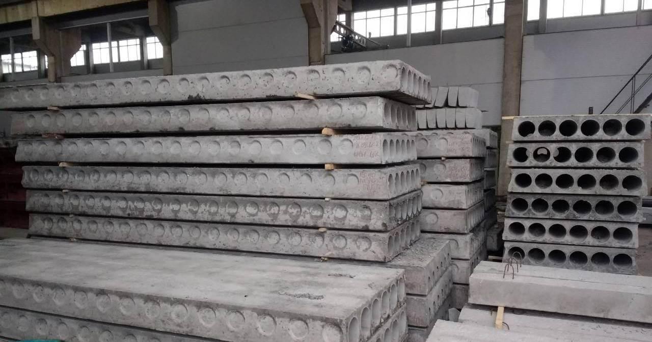 Плиты перекрытия многопустотные на складе БКБМ