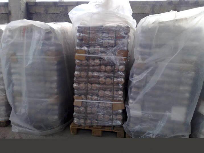 Складское хранение брикета Nestro в Бориспольском комбинате строительных материалов
